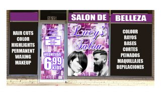Lucy Salon – Window Wrap