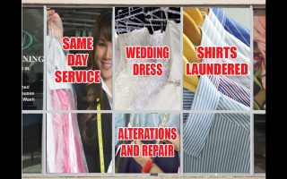 Dry Cleaners – Window Wrap