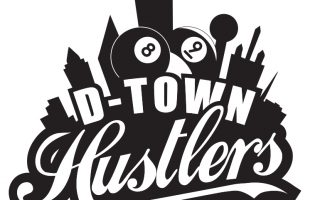 D-Town Hustlers – Pool League Logo